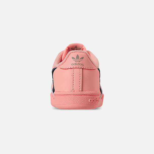 Back view of Toddler Girls' adidas Continental 80 Casual Shoes in Clear Orange/Light Brown/Ecru Tint