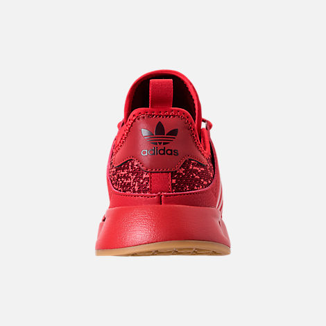 Back view of Boys' Big Kids' adidas Originals X_PLR Casual Shoes in Scarlet/Collegiate Burgundy