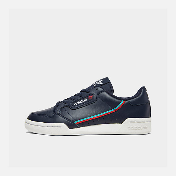 Right view of Boys' Big Kids' adidas Originals Continental 80 Casual Shoes in Collegiate Navy/Scarlet/Aqua