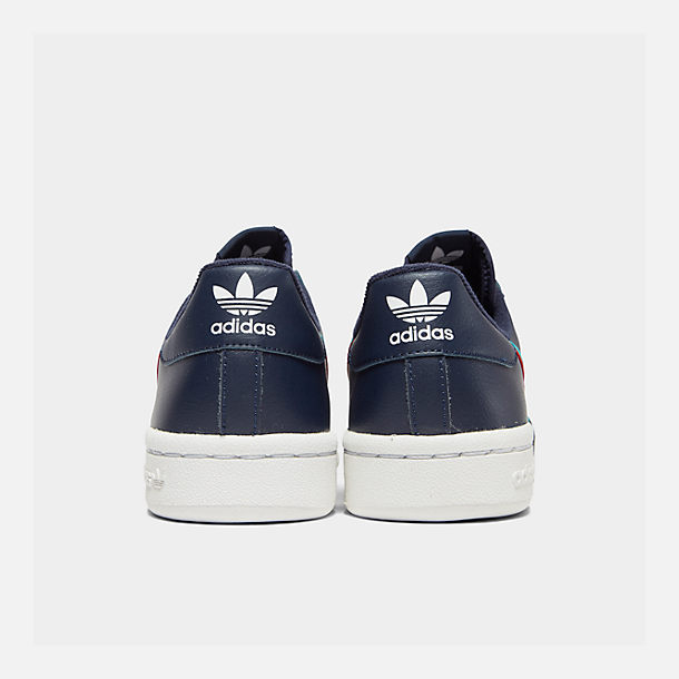 Left view of Boys' Big Kids' adidas Originals Continental 80 Casual Shoes in Collegiate Navy/Scarlet/Aqua