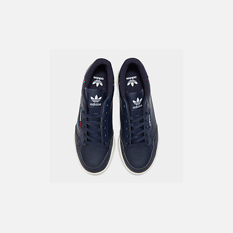 Back view of Boys' Big Kids' adidas Originals Continental 80 Casual Shoes in Collegiate Navy/Scarlet/Aqua