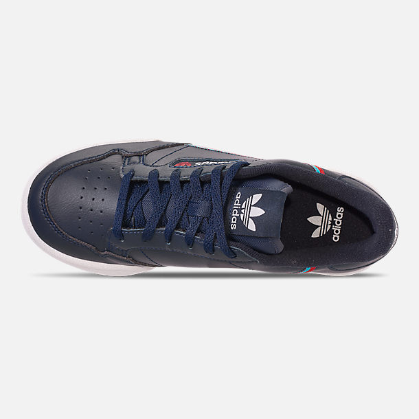 Top view of Boys' Big Kids' adidas Originals Continental 80 Casual Shoes in Collegiate Navy/Scarlet/Aqua