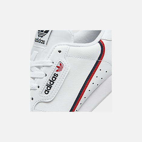 d985d8103d9 Front view of Big Kids' adidas Originals Continental 80 Casual Shoes in  Footwear White/