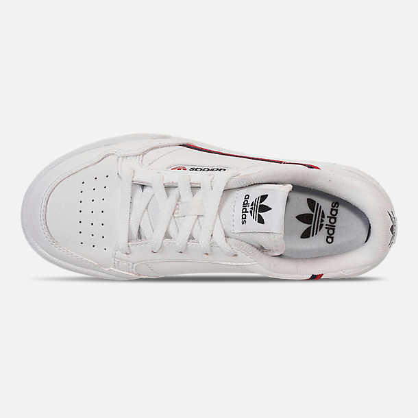 35d5978215a Top view of Big Kids' adidas Originals Continental 80 Casual Shoes in  Footwear White/