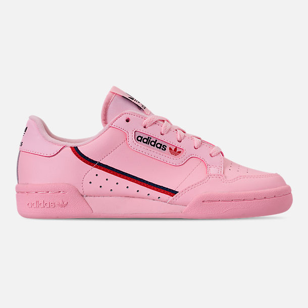 Right view of Girls' Big Kids' adidas Originals Continental 80 Casual Shoes in Pink/Scarlet/Collegiate Navy