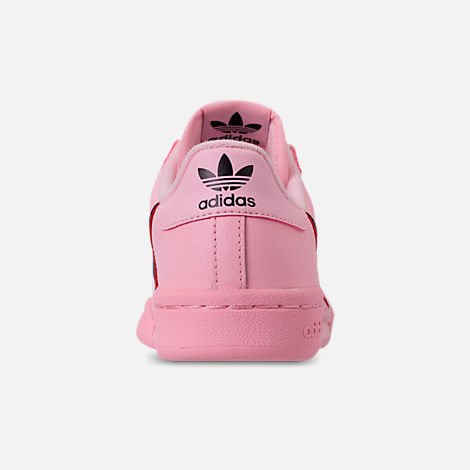 Back view of Girls' Big Kids' adidas Originals Continental 80 Casual Shoes in Pink/Scarlet/Collegiate Navy
