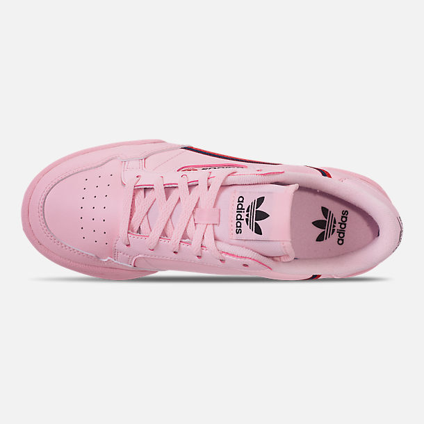 Top view of Girls' Big Kids' adidas Originals Continental 80 Casual Shoes in Pink/Scarlet/Collegiate Navy