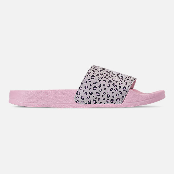 Right view of Girls' Big Kids' adidas Adilette Shower Slide Sandals in Aero Pink/Footwear White/Raw White