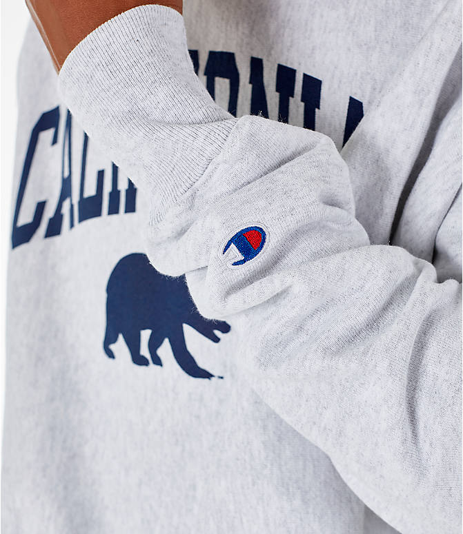 Detail 2 view of Men's Champion Cal Golden Bears College Reverse Weave Crewneck Sweatshirt in Silver Grey