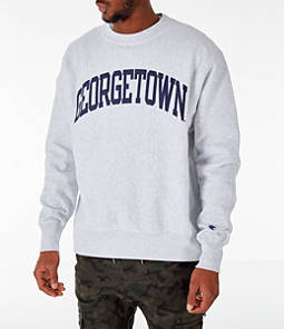 Men's Champion Georgetown Hoyas College Reverse Weave Crewneck Sweatshirt