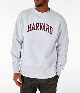 Men's Champion Harvard Crimson College Reverse Weave Crewneck Sweatshirt