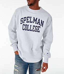Men's Champion Spelman Jaguars College Reverse Weave Crewneck Sweatshirt