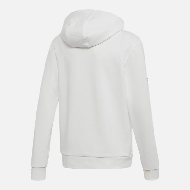 Back view of Kids' adidas Originals V-Day Trefoil Hoodie in White