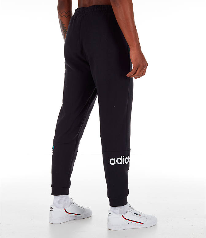 Back Right view of Men's adidas Originals Archive Sweatpants in Black
