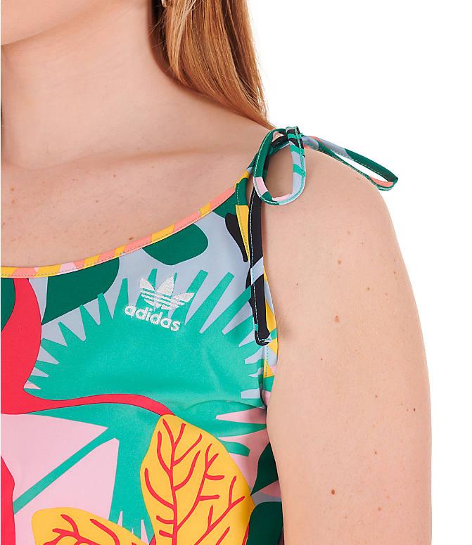 Detail 2 view of Women's adidas Originals Tropicalage Romper in Multi Floral