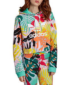 Women's adidas Originals Tropicalage Crop Hoodie