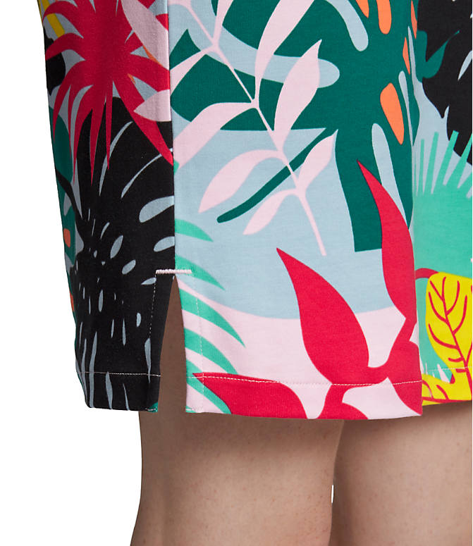 2d8bf58122b Detail 3 view of Women's adidas Originals Tropicalage T-Shirt Dress in  Multicolor