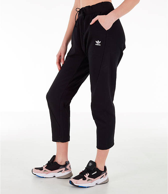 Front Three Quarter view of Women's adidas X Track Pants in Black