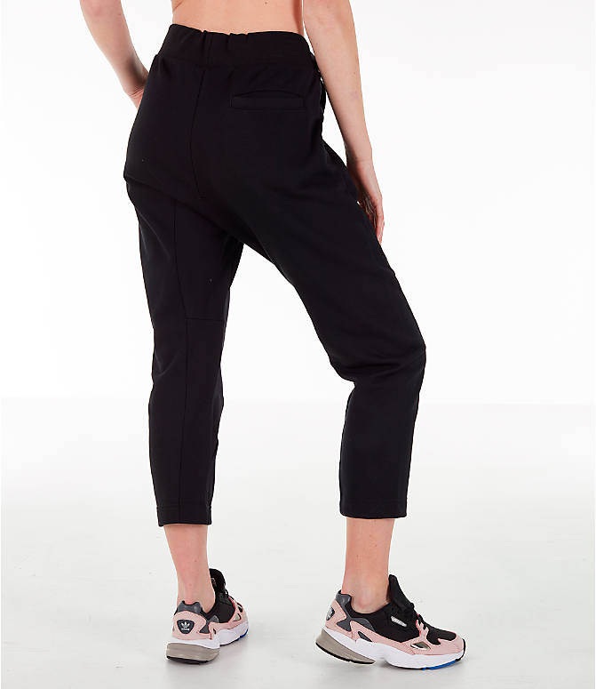 Back Right view of Women's adidas X Track Pants in Black