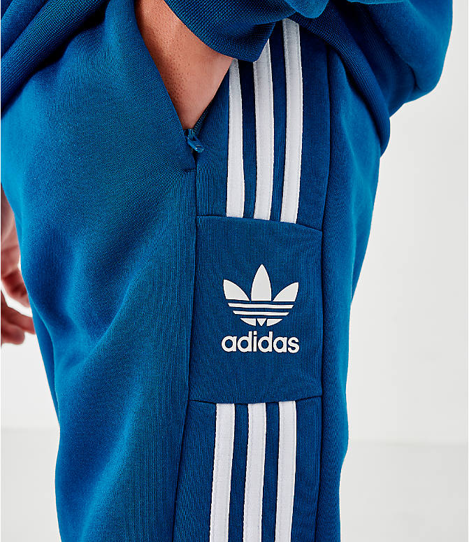 On Model 5 view of Men's adidas Originals ID96 Track Pants in Blue
