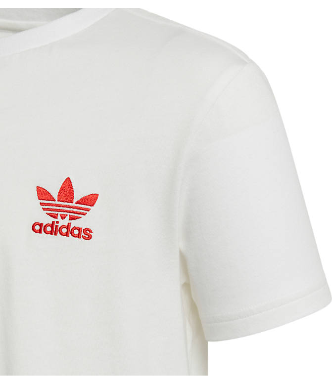 Back view of Kids' adidas Originals Trefoil T-Shirt in White