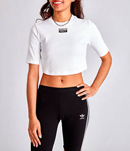 Women's adidas Originals '90s Block Cropped T-Shirt