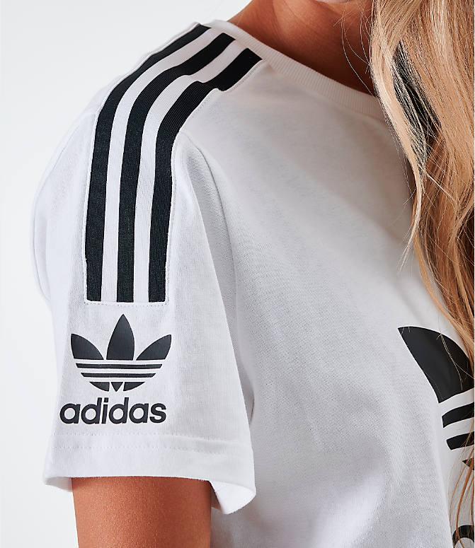 Women's adidas Originals 3 Stripes Lock Up T Shirt  Finish Line