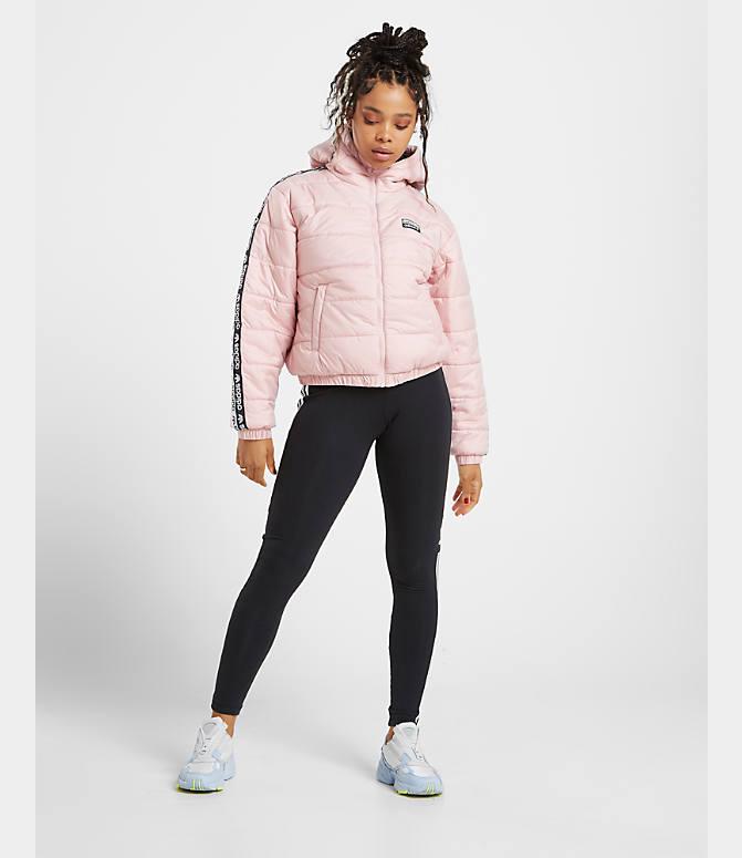 adidas Short Padded W jacket black pink