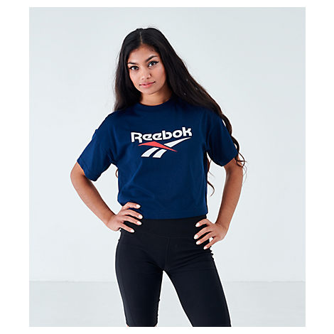 Reebok Women's Classics Crop T-shirt In Blue