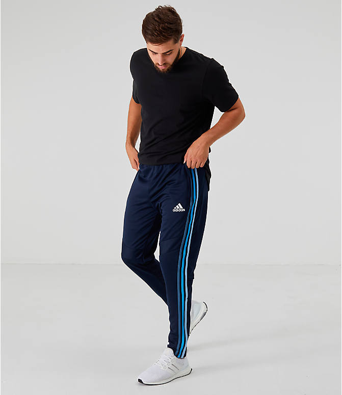 Front Three Quarter view of Men's adidas Tiro 19 Training Pants in Legend Ink