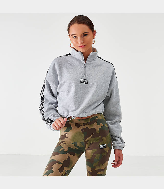 Women's adidas Originals Crop Half Zip Top