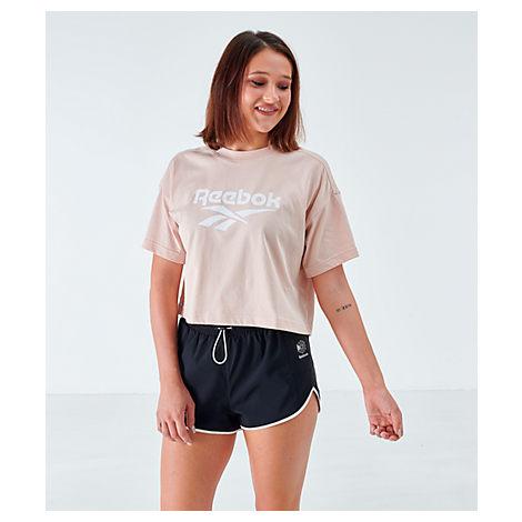 Reebok Women's Classics Crop T-shirt In Pink