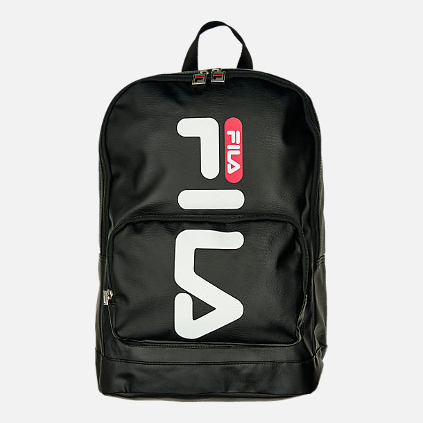 Front view of Fila Riley Backpack in Black