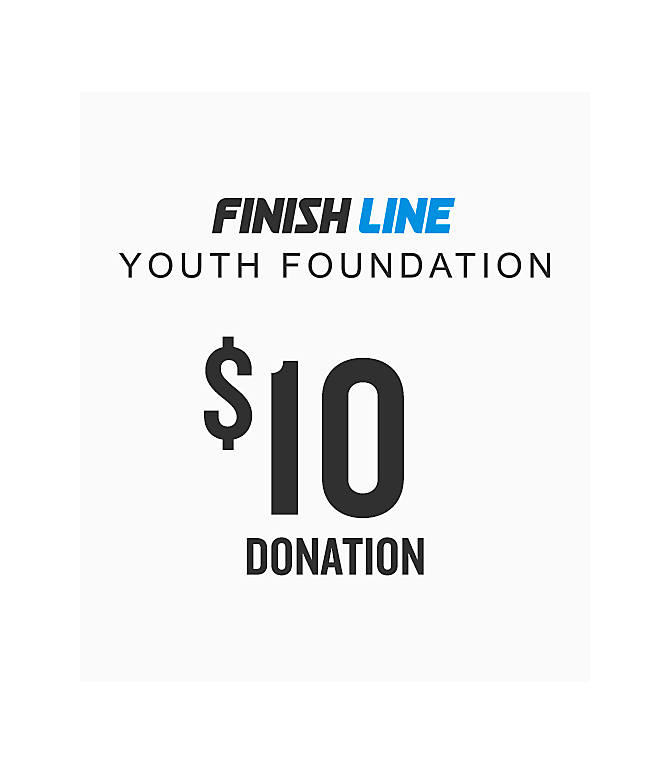 Front view of Finish Line Youth Foundation Donation in $10 Donation