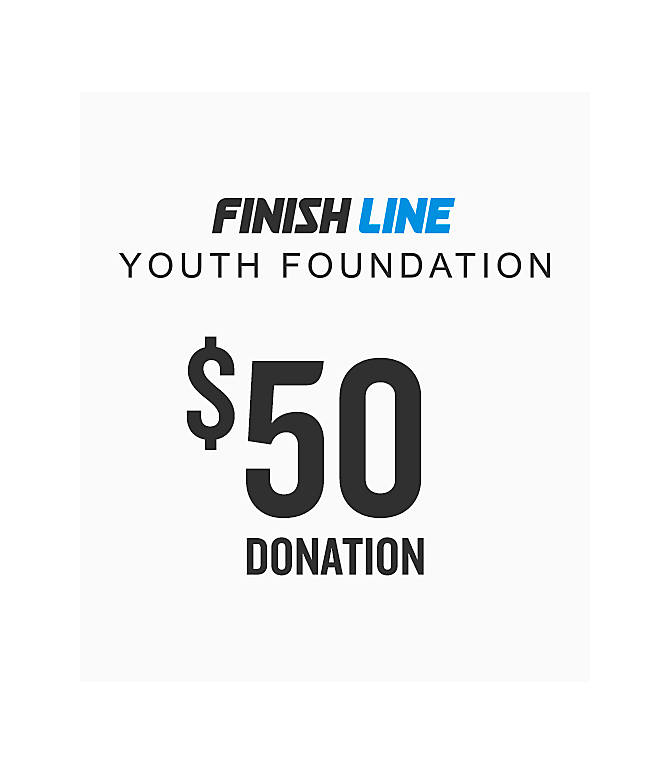 Front view of Finish Line Youth Foundation Donation in $50 Donation