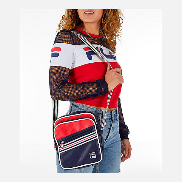 Alternate view of Fila Bailey Shoulder Bag in Peacoat/Chinese Red/White