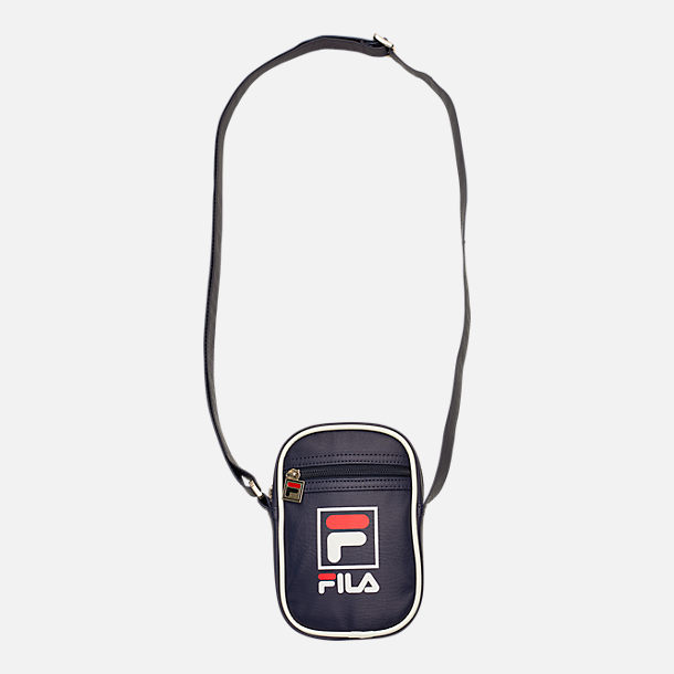 Front view of Fila Mini Shoulder Bag in Peacoat/Chinese Red/White