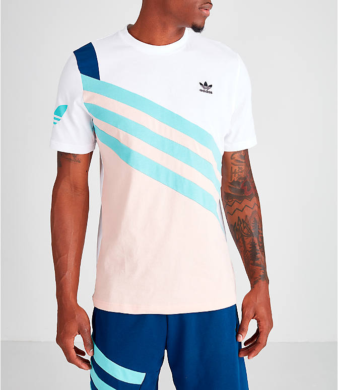 Front view of Men's adidas Originals 90's Summer T-Shirt in Vapour Pink