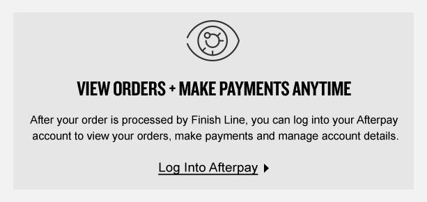Afterpay Available Now | Buy Now, Pay Later | Finish Line