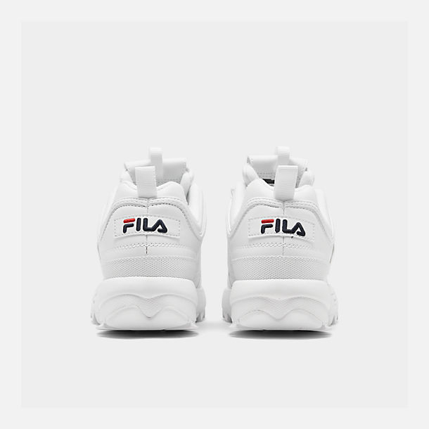 61dacbde093a Left view of Little Kids  Fila Disruptor II Casual Shoes in White Navy