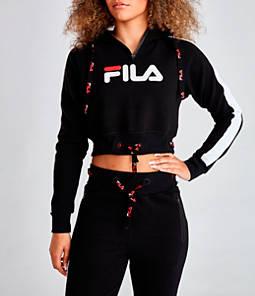 Women's Fila Aurora Crop Half-Zip Hoodie