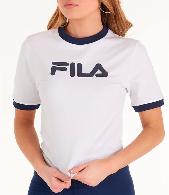 Detail 2 view of Women's Fila Tionne Cropped T-Shirt in White