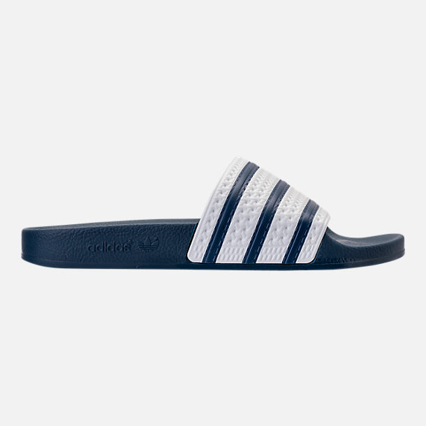df4cb52fc40f1 Right view of Men s adidas Adilette Slide Sandals in Navy White