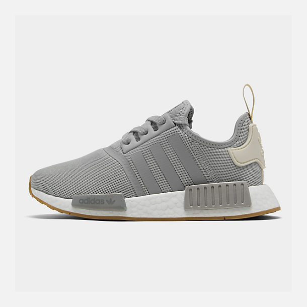 Right view of Women's adidas NMD R1 Casual Shoes in Grey/Ecru Tint