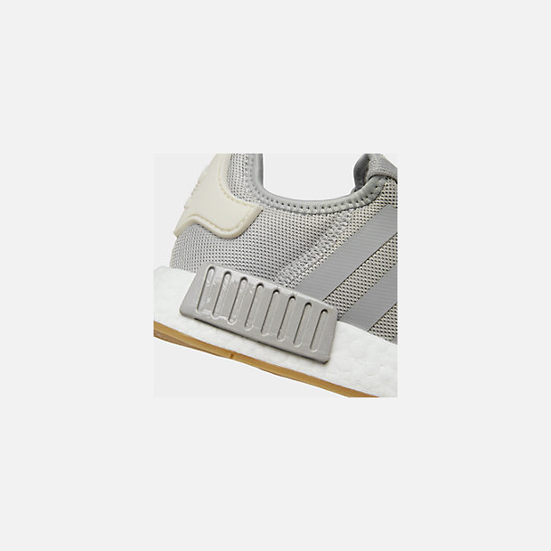 Front view of Women's adidas NMD R1 Casual Shoes in Grey/Ecru Tint