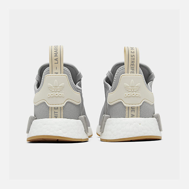 Left view of Women's adidas NMD R1 Casual Shoes in Grey/Ecru Tint