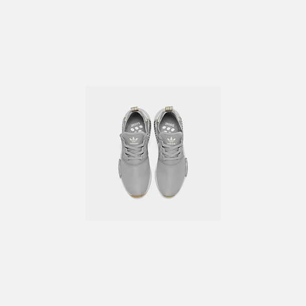 Back view of Women's adidas NMD R1 Casual Shoes in Grey/Ecru Tint