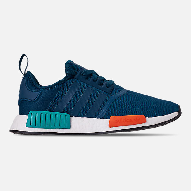 Right view of Men's adidas NMD Runner R1 Casual Shoes in Blue Night/Energy Orange