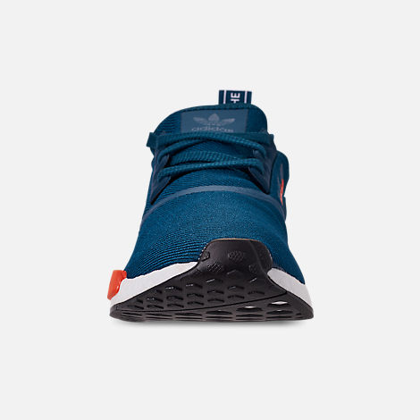 Front view of Men's adidas NMD Runner R1 Casual Shoes in Blue Night/Energy Orange