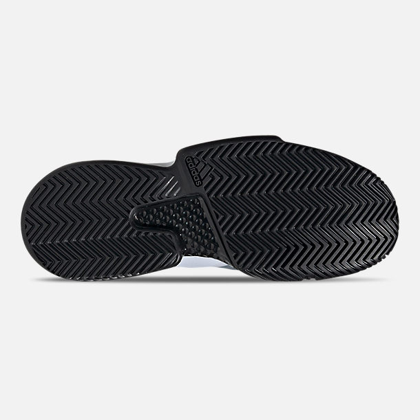 Bottom view of Men's adidas SoleMatch Bounce Tennis Shoes in Cloud White/Core Black